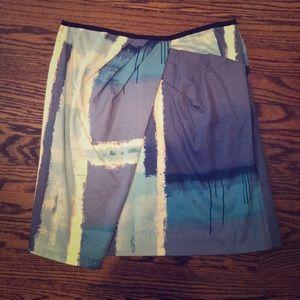 Dresses & Skirts - Walter Watercolor Blue skirt 6 blogger style